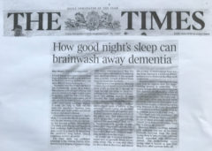 The Times dementia and sleep article