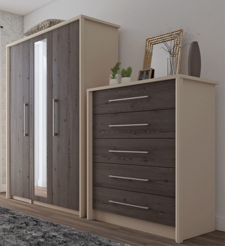 Burton Clay And Anthracite Larch Bedroom Furniture. From £119.