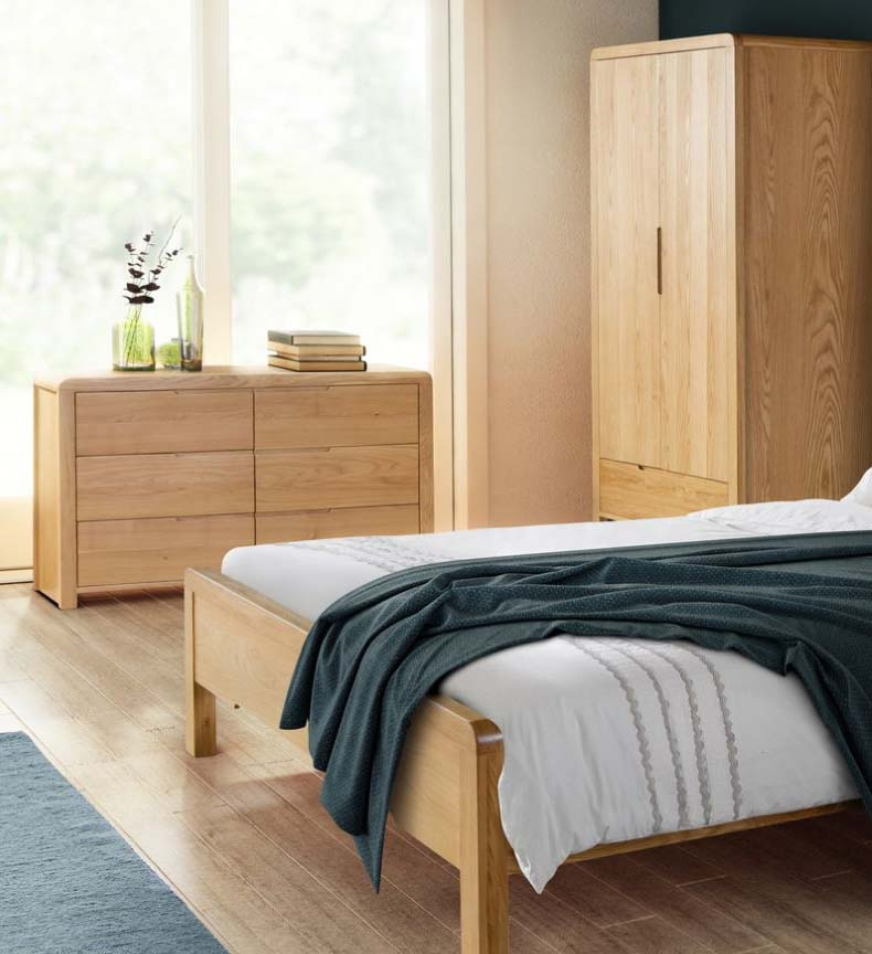 City Curved Oak Bedroom Furniture. From £159.