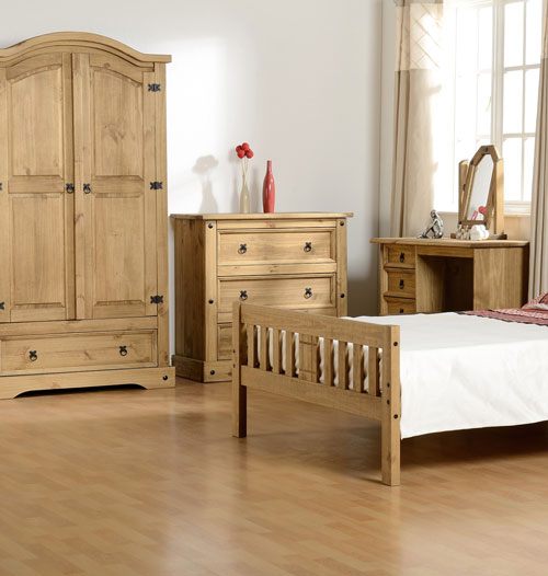 Corona Mexican Pine Bedroom Furniture.