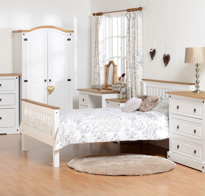Corona White Bedroom Furniture.