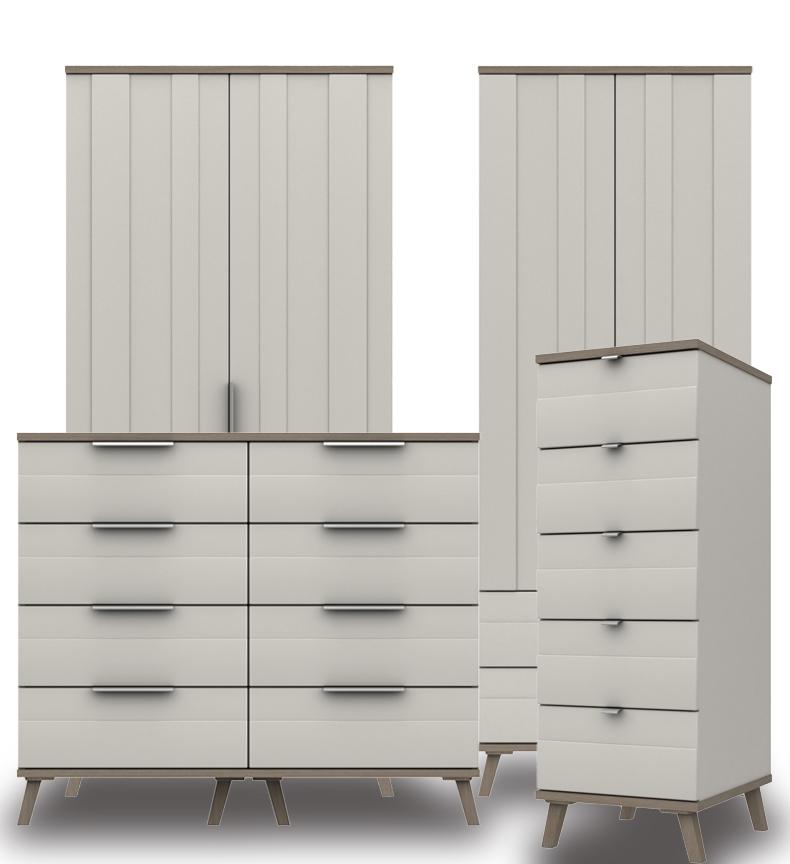 Derby Grey White Grey Oak Bedroom Furniture. From £199.