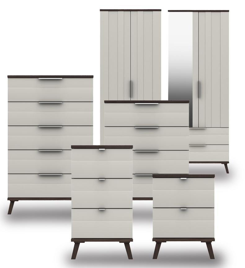 Derby Grey White Truffle Oak Bedroom Furniture. From £199.