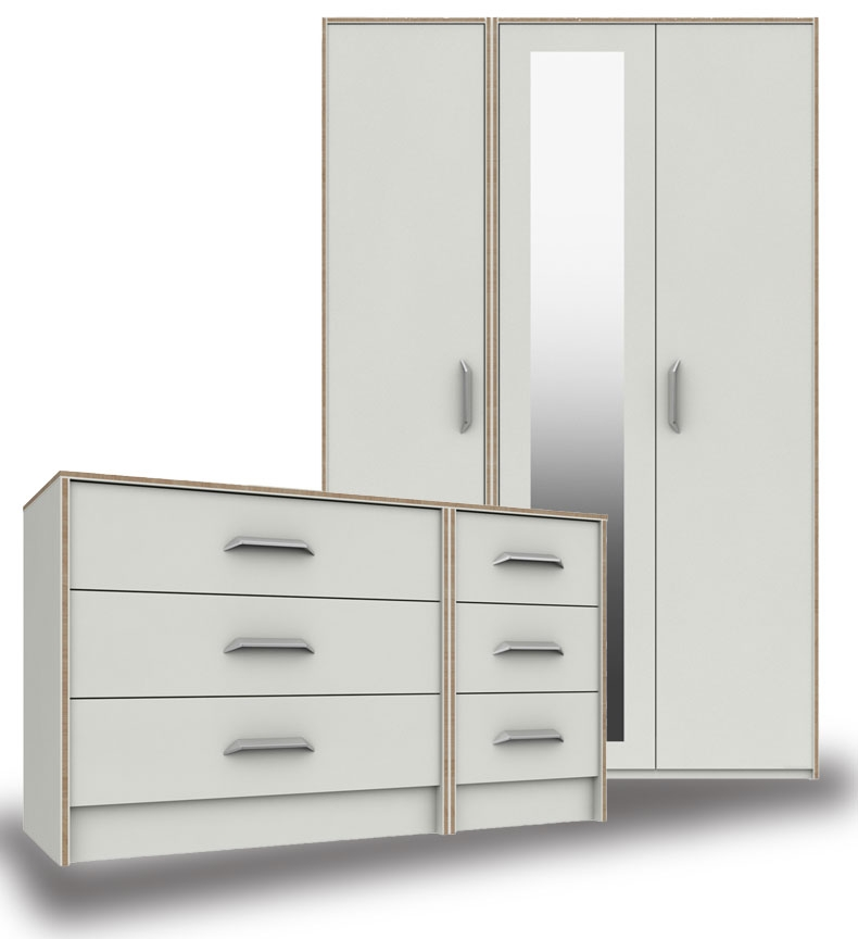 Marston White Bedroom Furniture. From £99.