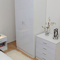 Otto White High Gloss Bedroom Furniture.