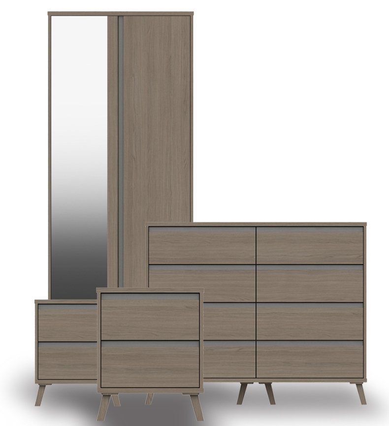 Thames Grey Oak Bedroom Furniture. From £119.