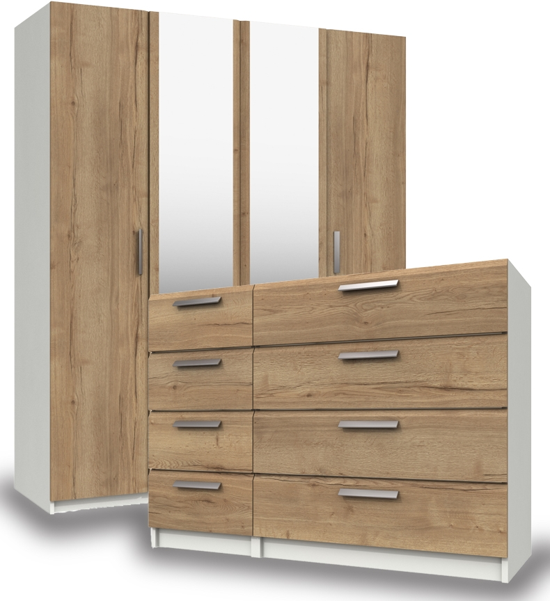 Waterford White And Oak Bedroom Furniture.