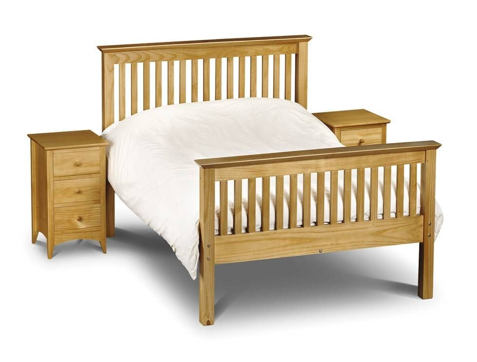 Barcelona Pine High Foot End Double Bed Frame
