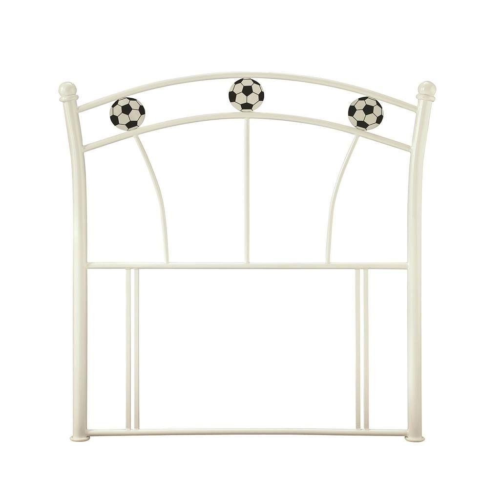 Soccer White Single Headboard