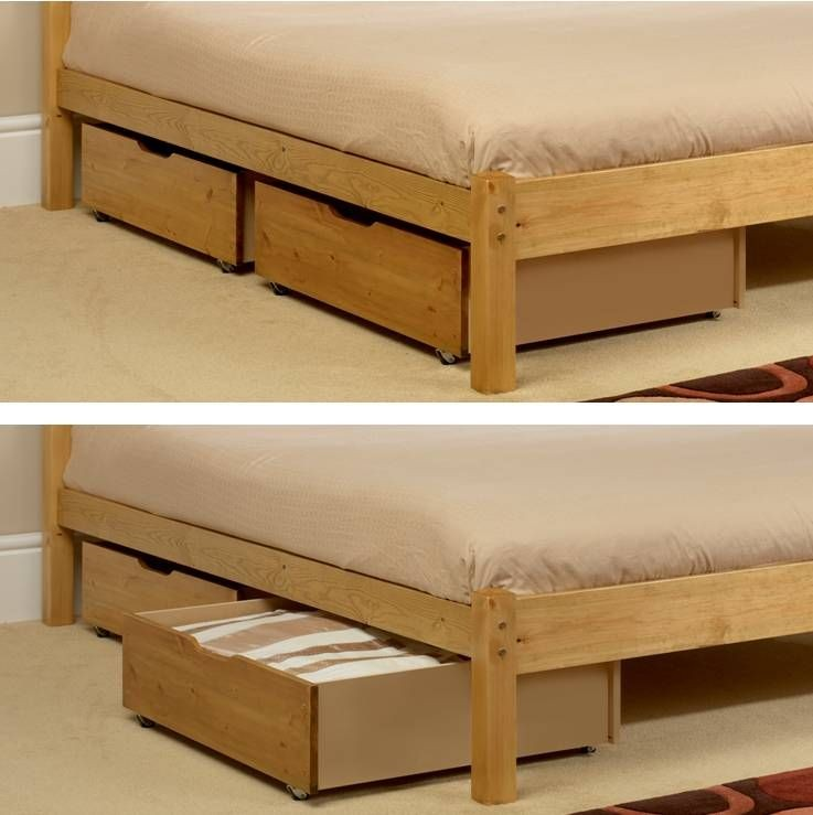Underbed Storage Drawers (2) Pine