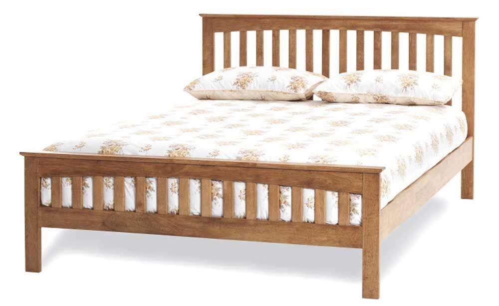 Emelia Honey Oak Super Kingsize Bed Frame