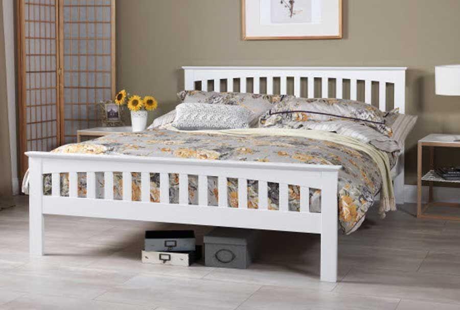 Emelia Opal White Kingsize Bed Frame