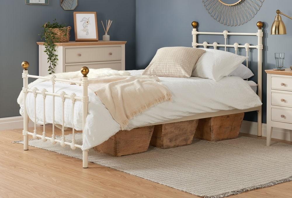 Atlas Cream Single Bed Frame