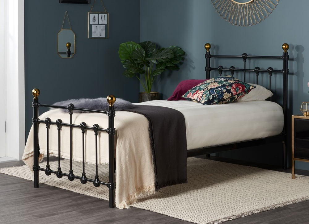 Atlas Black Single Bed Frame