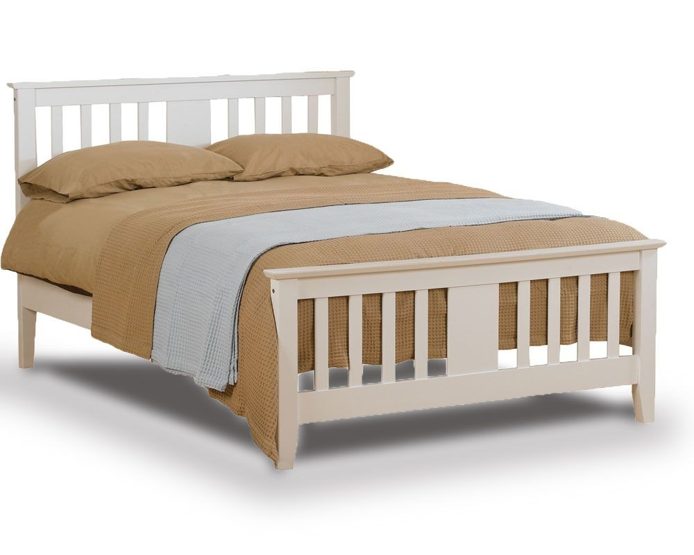 Eagle White Double Bed Frame
