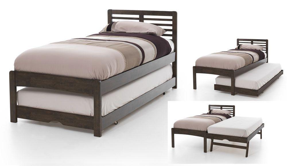 Hesther Walnut Guest Bed Frame