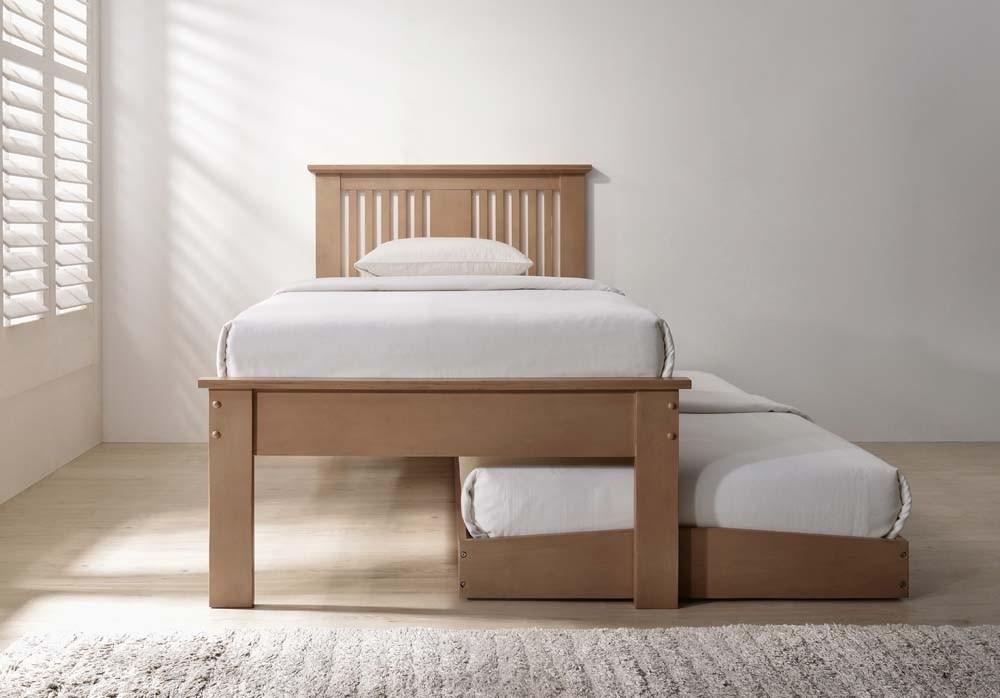 Hank Oak Guest Bed Frame