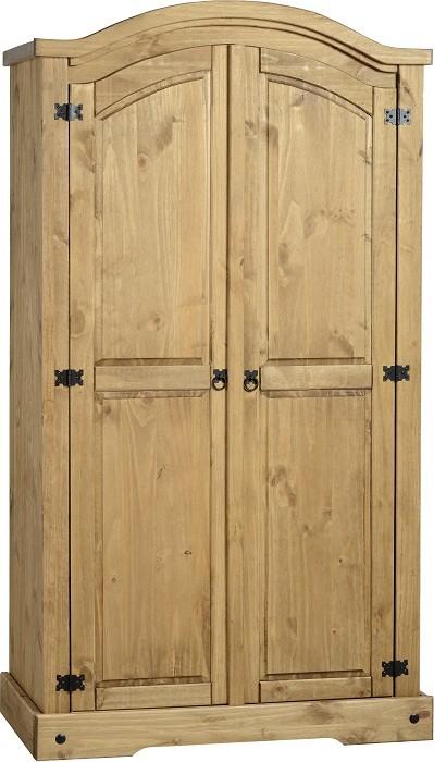 Corona Distressed Pine 2 Door Robe