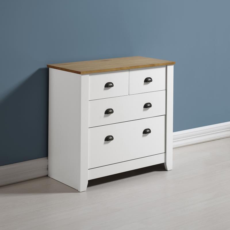 London Bedroom Furniture 2+2 Drawer Chest