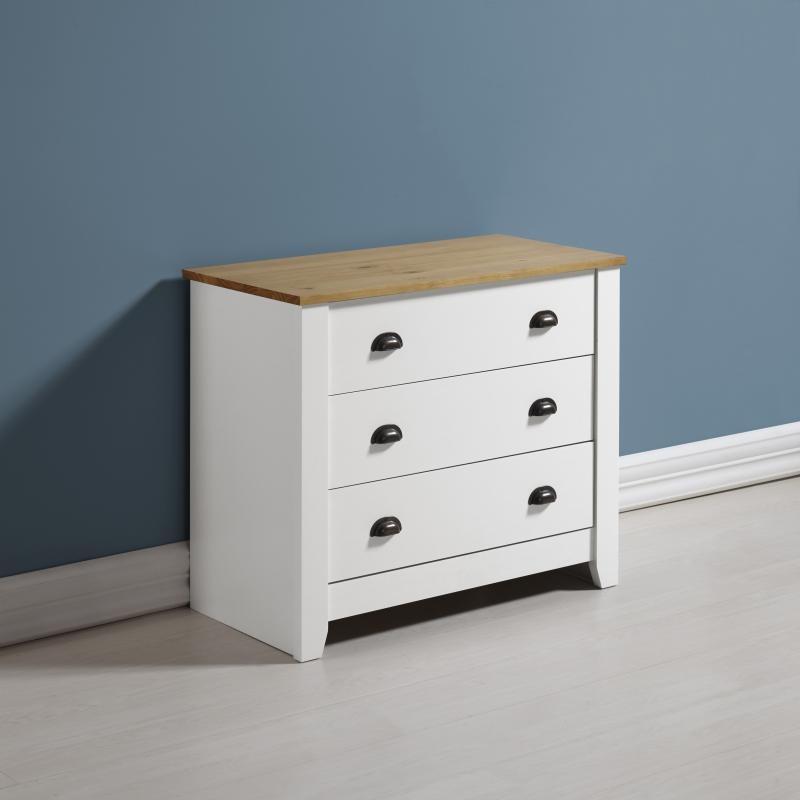 London Bedroom Furniture 3 Drawer Chest