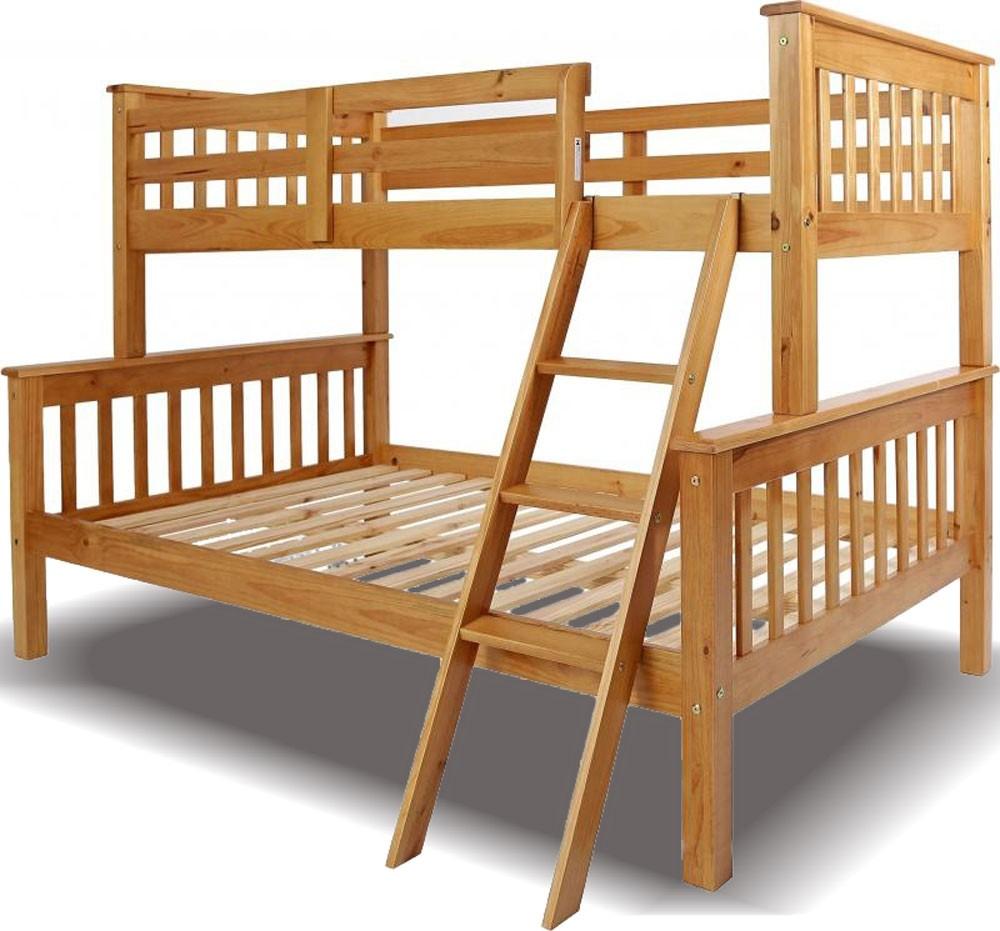 Neptuno Pine Triple Bunk Bed