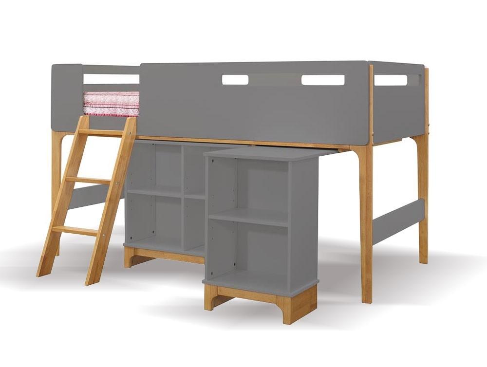 Islington Oak And Grey Cabin Bed