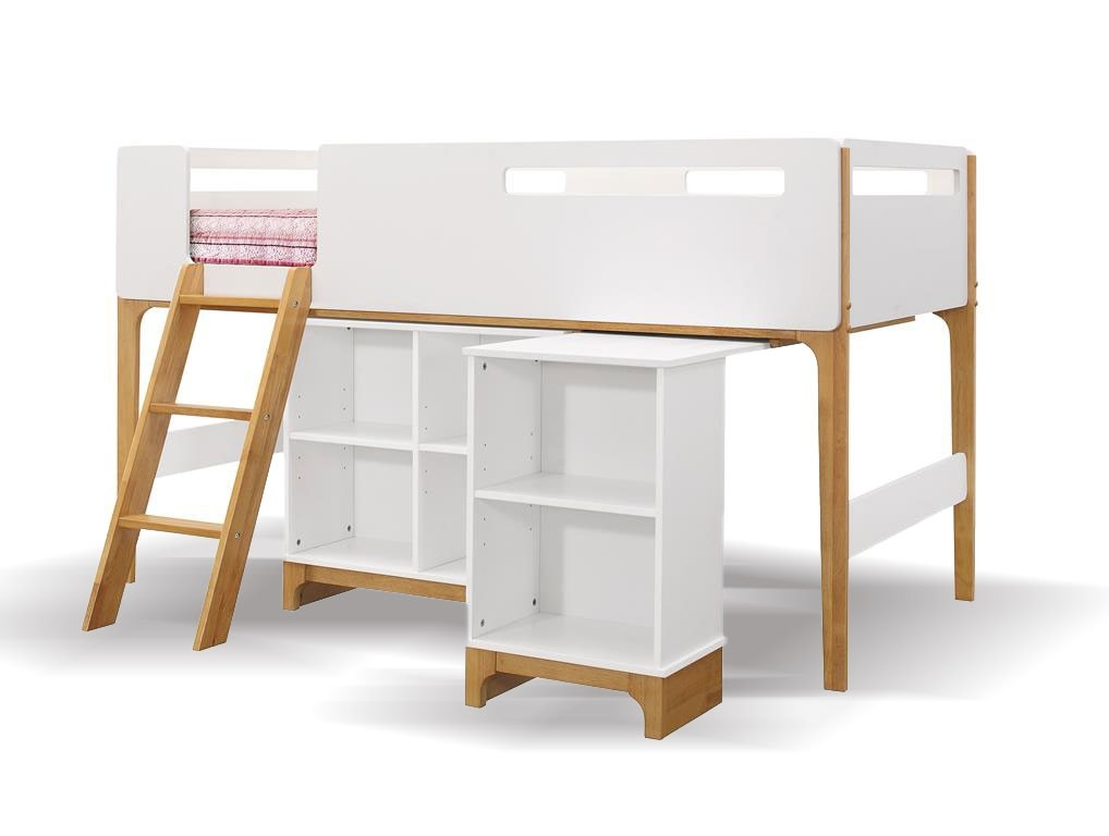Islington Oak And White Cabin Bed