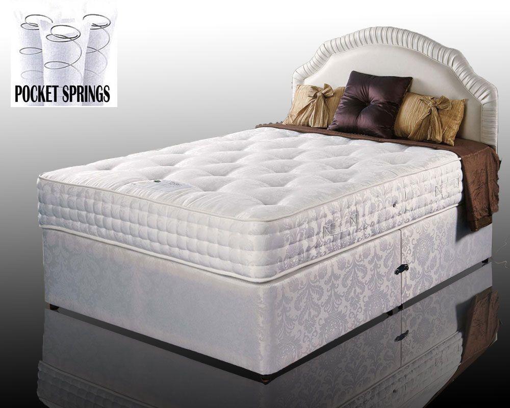 Kozee Rose Luxury Pocket 1000 Three Quarter 4 Drawer Divan Bed