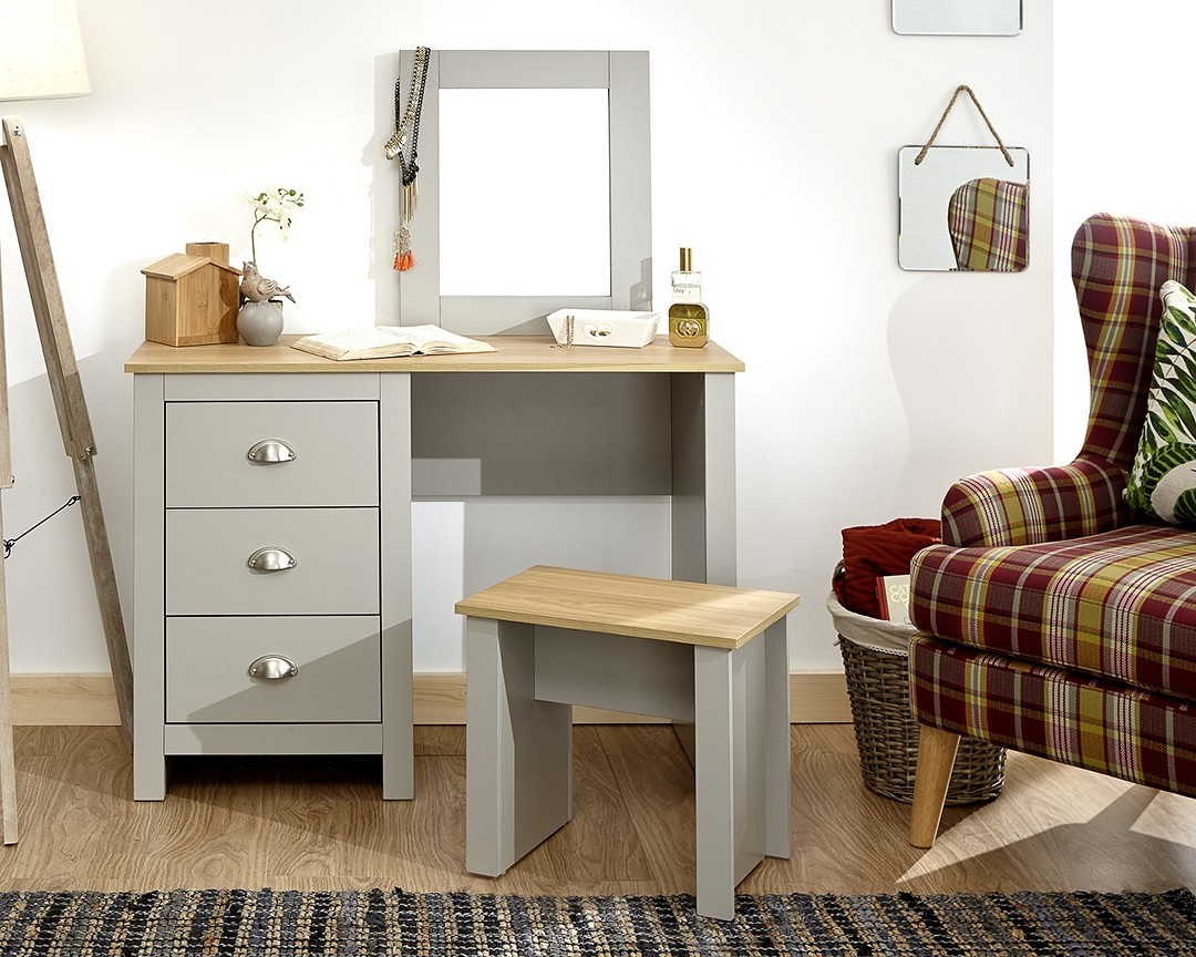 Lancashire Grey Dressing Table Set