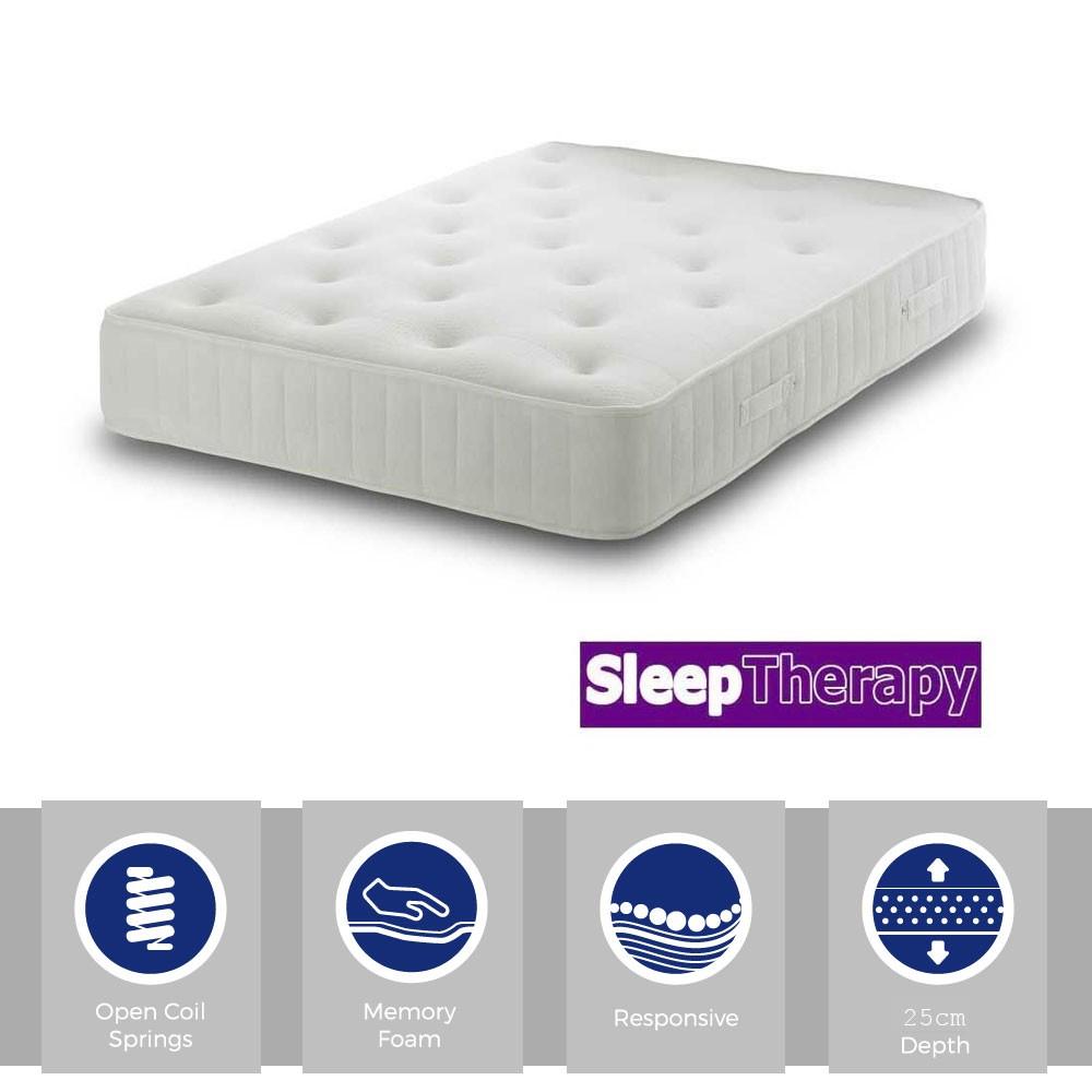 Sleeping Therapy Memory Master Three Quarter Mattress