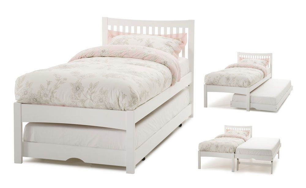 Mia Opal White Guest Bed Frame