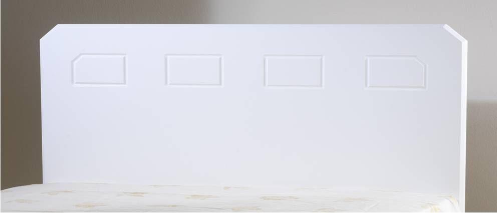 Miami White Small Single Headboard