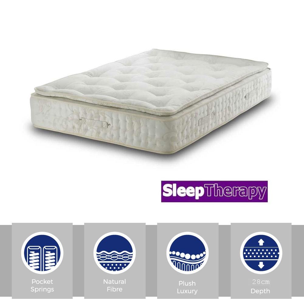 Natural Sleep Pillow Pocket 2000 Three Quarter Mattress