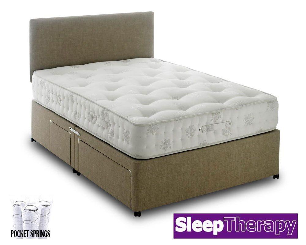 Natural Sleep Pocket 1400 Three Quarter Divan Bed