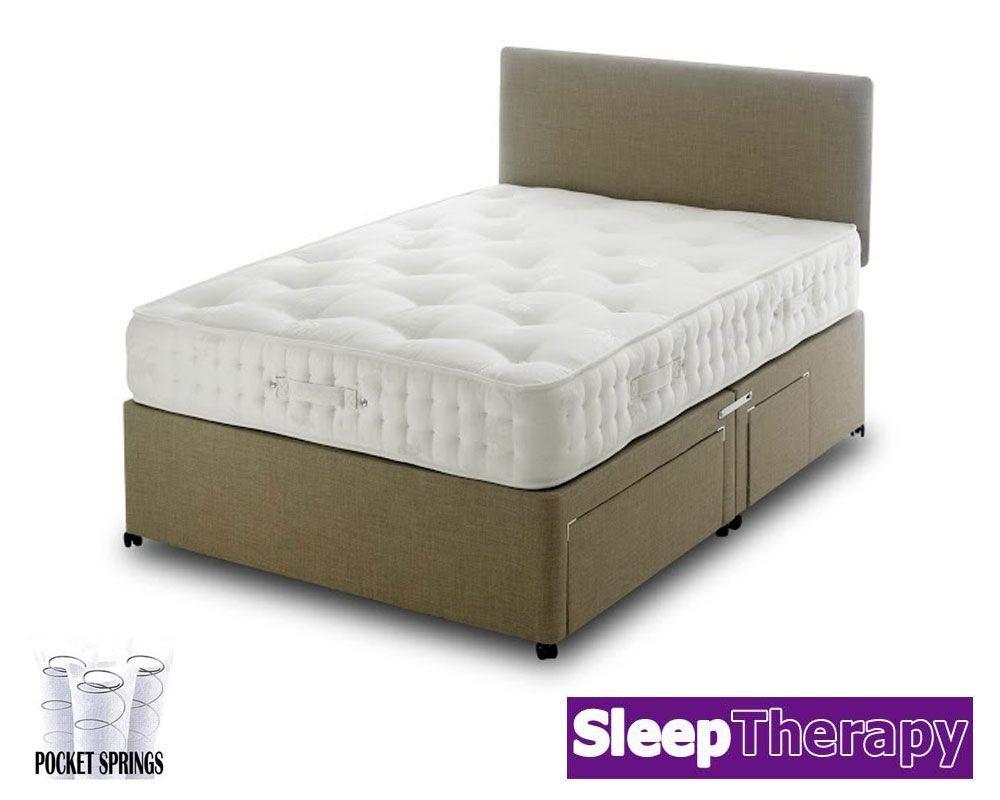 Natural Sleep Pocket 1800 Three Quarter Divan Bed