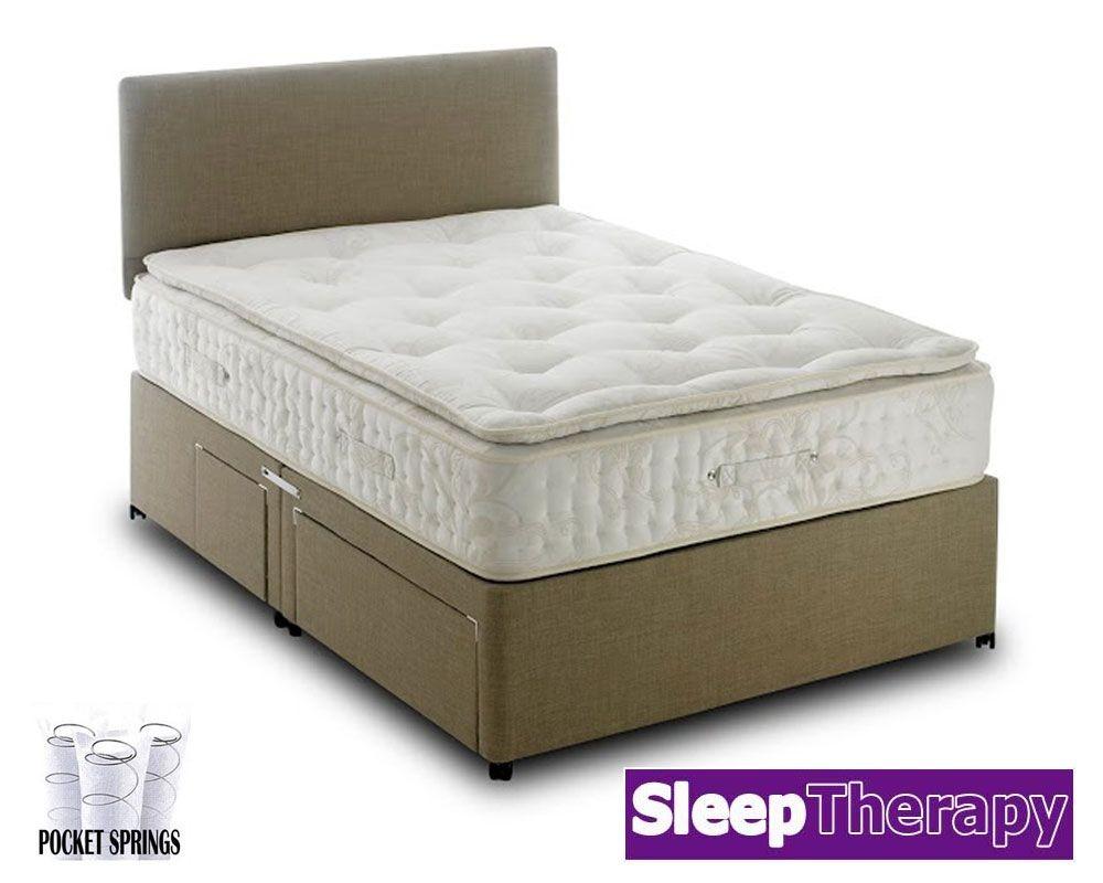 Natural Sleep Pillow Pocket 2000 Kingsize Divan Bed
