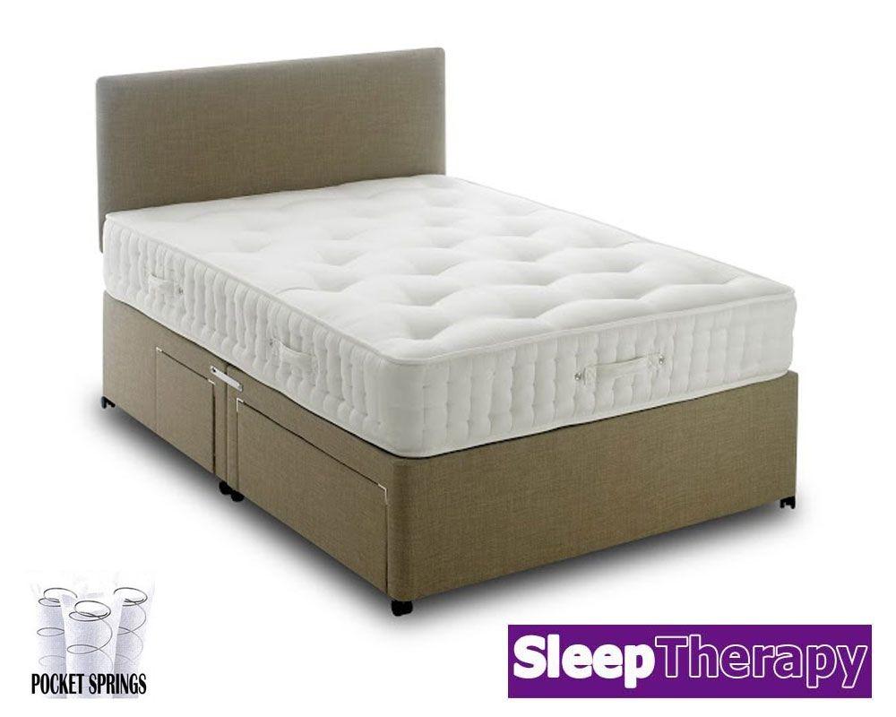Natural Sleep Pocket 4000 Three Quarter Divan Bed