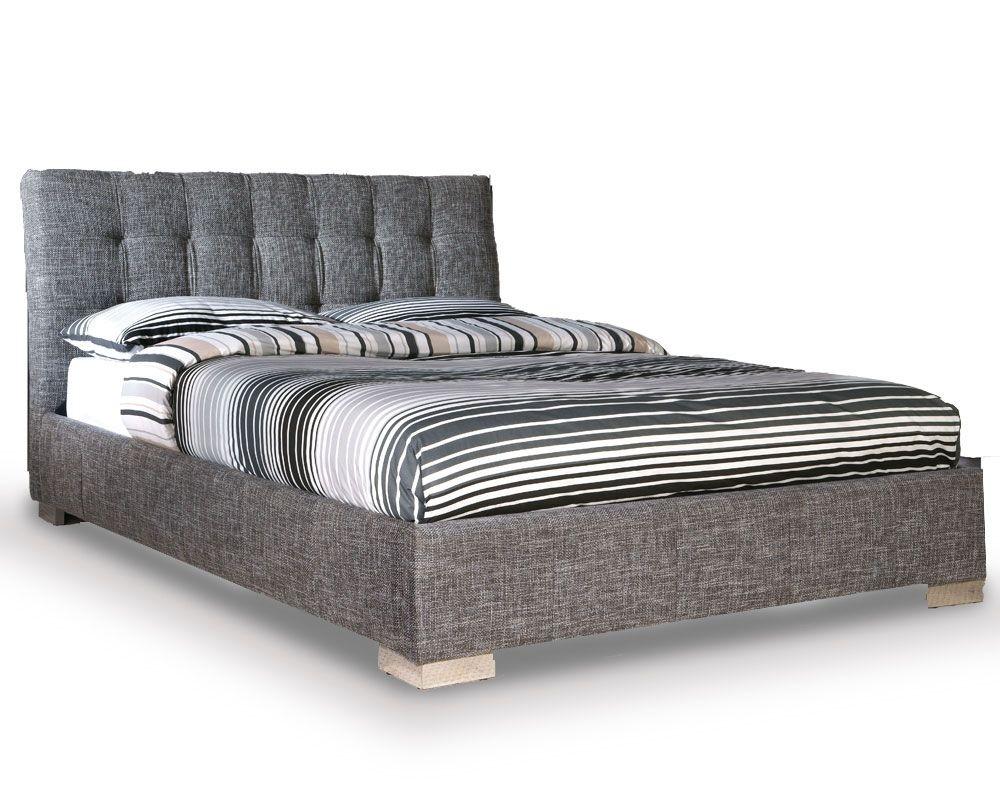 Ophelian Slate Waffle Double Bed Frame