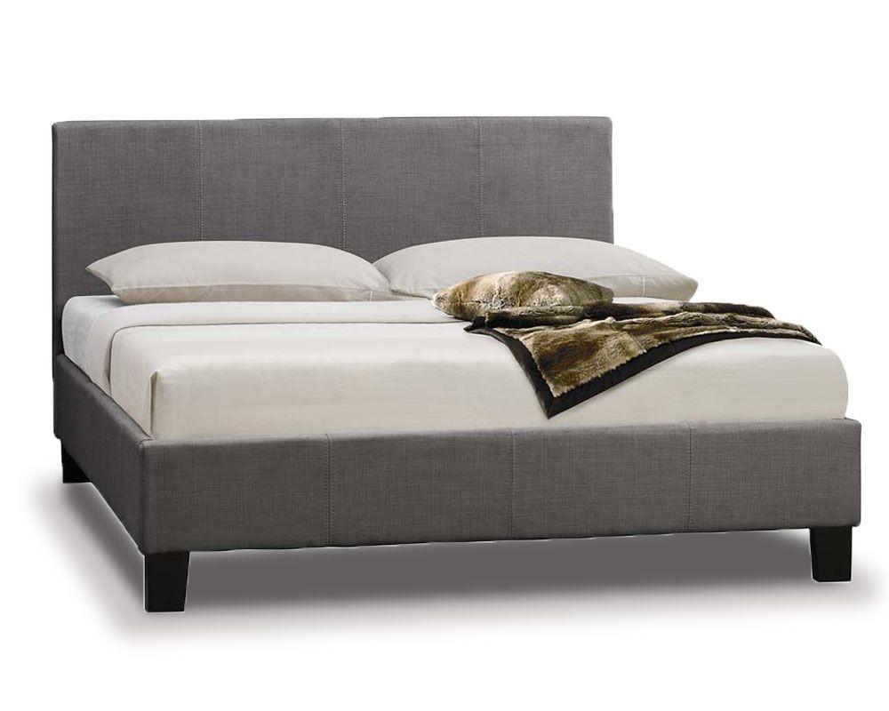 Parade Grey Fabric Three Quarter Bed Frame
