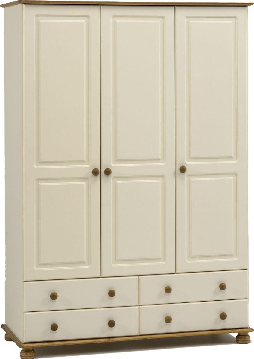Richmond Cream 3 Door/4 Drawer Robe