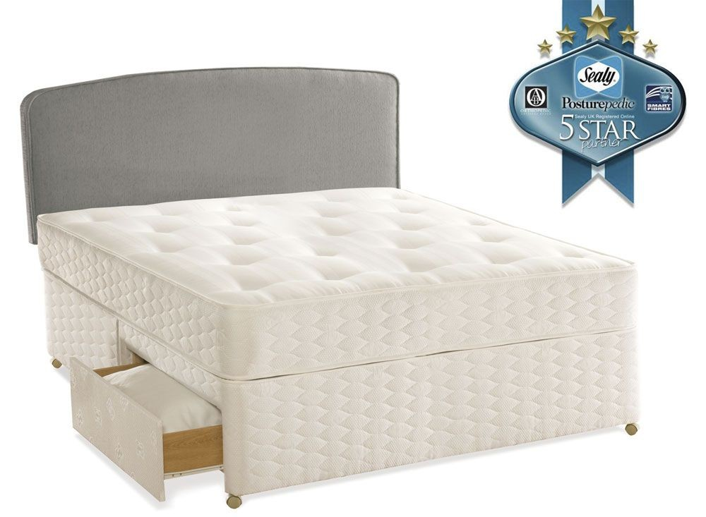 Sealy Essentials Firm Kingsize 2 Drawer Divan Bed