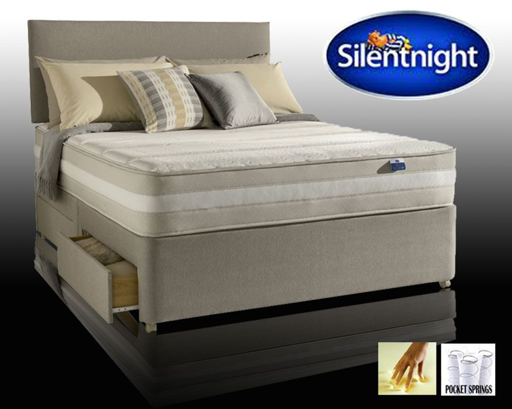 Silentnight Moscow Zoned Pocket Memory Double 2 Drawer Divan