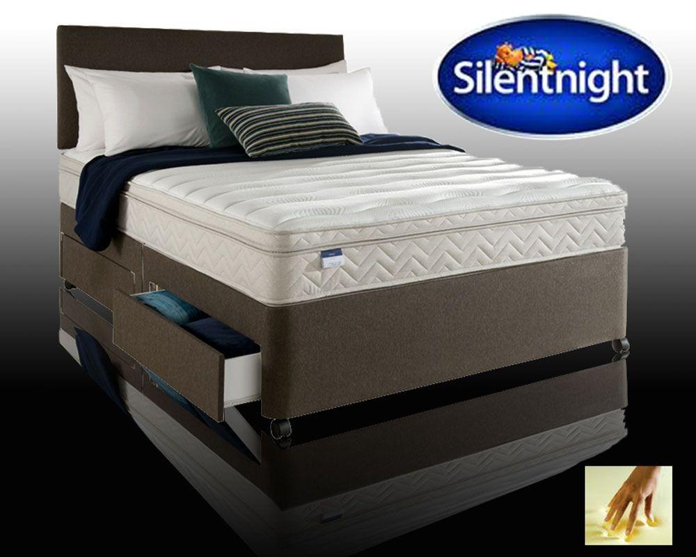 Silentnight Oslo Super Kingsize 4 Drawer Divan With Memory Foam