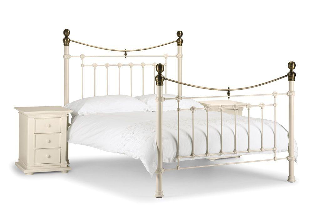Vicky Stone White Kingsize Bed Frame