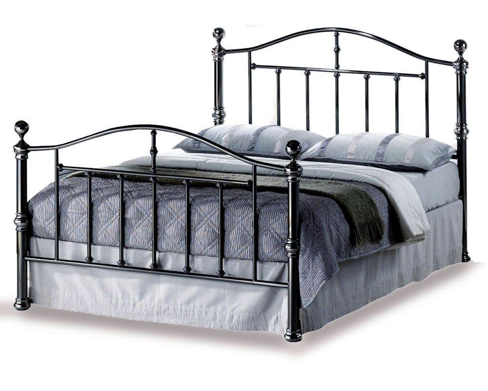 Victoria Black Nickel Kingsize Bed Frame