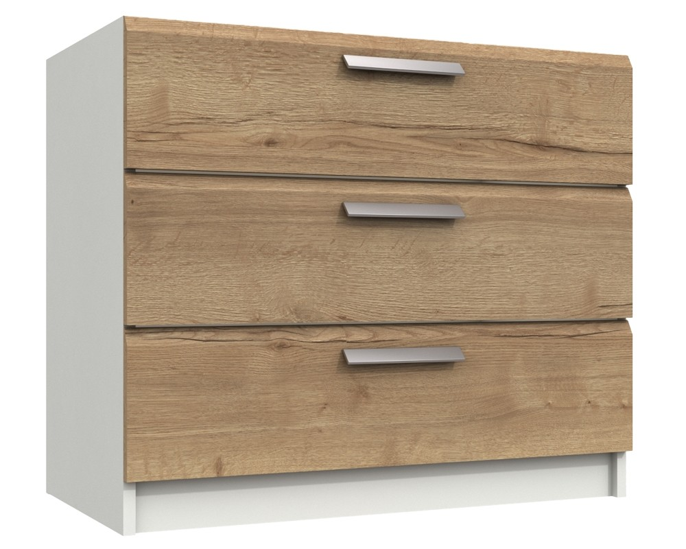 Waterford Oak And White 3 Drawer Chest