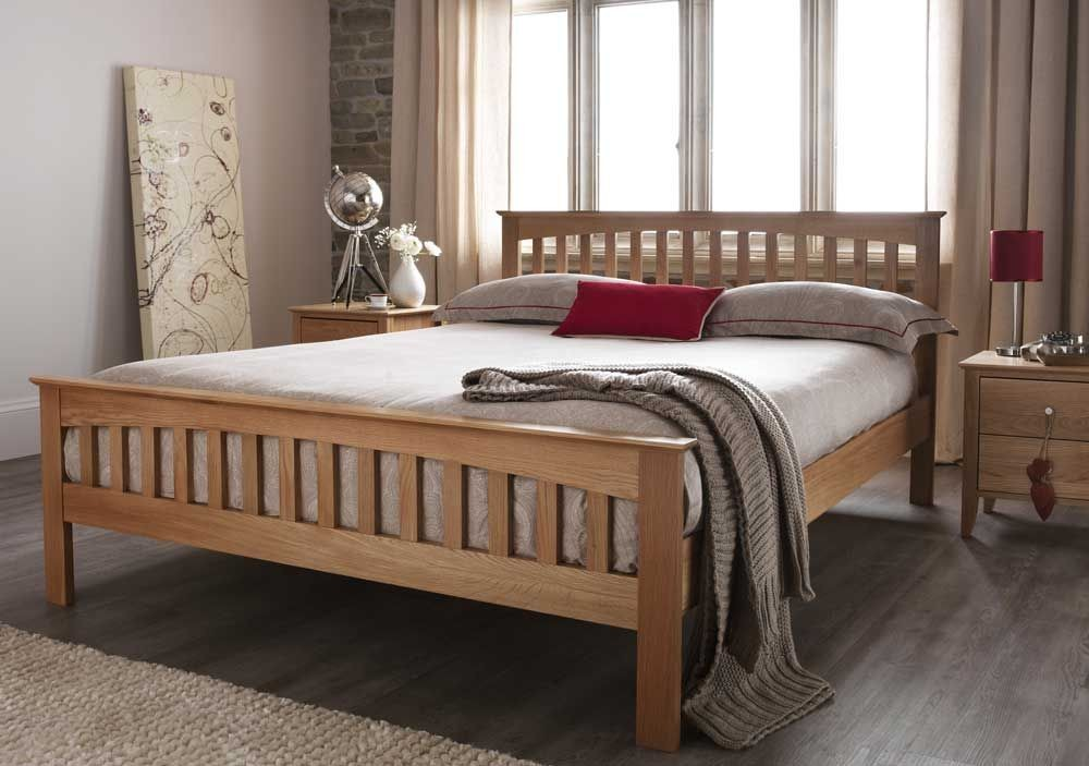 Windsor Classic Oak Double Bed Frame