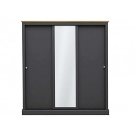 Dawlish Charcoal 3 Sliding Door Wardrobe