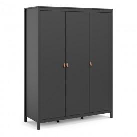Barton Black 3 Door Wardrobe