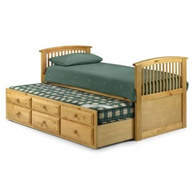 Pine Sleepover Captains Bed